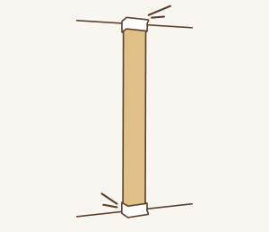 3 柱を垂直に立てて、完成!